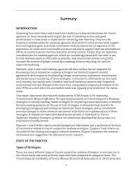 summary improving transportation network efficiency through