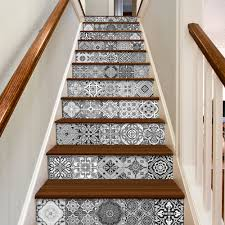 tile stickers staircase decals portuguese tiles