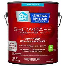 shop hgtv home by sherwin williams showcase tint base flat acrylic