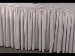 How To Make A Table Skirt by Decorating For Wedding Receptions Table Skirting Youtube