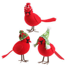 raz np 7 inch birds in snow caps set of 3 shelley b home and