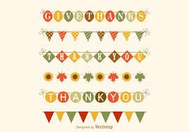 free thanksgiving garland vector set free vector