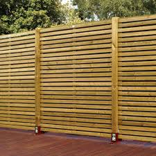 louvre slatted fence panel w1 8m h1 pack of 4 departments diy at