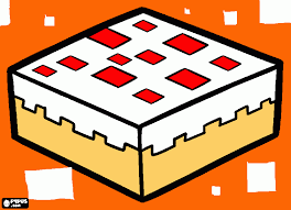minecraft cake coloring pages