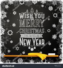 wish you merry happy new stock vector 162265079