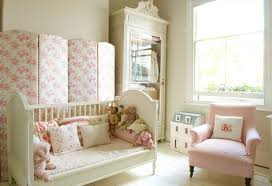 kids bedroom decor with white wooden daybed and flower pattern