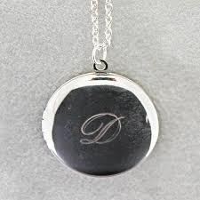 monogram locket monogram locket with custom engraving warbles with