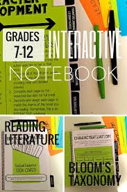 reading literature interactive notebook grades 6 9 literature