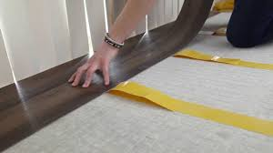 Floating Laminate Floor Over Carpet How To Install Vinyl Plank Flooring Using Double Sided Tape Youtube