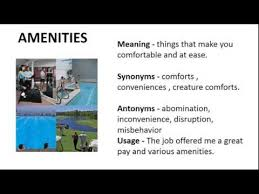 Comforts Definition Vocabulary Made Easy Meaning Of Amenities Synonyms Antonyms And