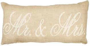 amazon com mr u0026 mrs burlap pillow home u0026 kitchen