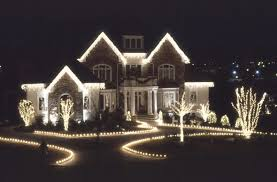 whiteas lights houses happy holidays