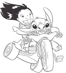 lilo and stitch coloring page for kids download 7502