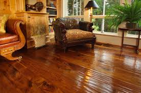 Different Colors Of Laminate Flooring Walnut Flooring With A Hand Scraped Texture In A Living Room