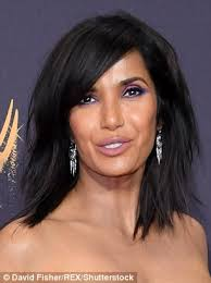 judge jeanine haircut emmys red carpet sees padma lakshmi show off bold new do daily