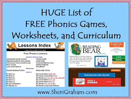huge list of free phonics games worksheets and curriculum