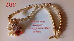 making necklace chain images Diy long pearl chain making silk thread jewellery jpg