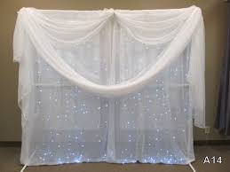 Backdrop Frame Pvc Backdrop Frame With Drapes And Lights U2014 Glass Slipper Rentals