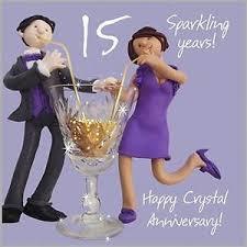 15 wedding anniversary happy 15th wedding anniversary card cheeky cheerful