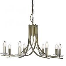 Chandelier Antique Brass Searchlight 4168 8ab Ascona 8 Light Ceiling Light Antique Brass