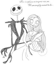 98 picture nightmare before christmas jack and sally drawings