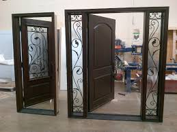 best fiberglass door made in canada home decor window door fiberglass door with custom wrought iron sidelights and matching