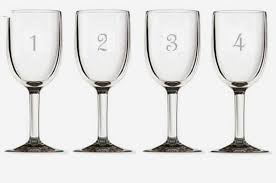 numbered stemless wine glasses set of 12