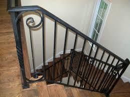 interior wrought iron stair railing interior metal stair railing
