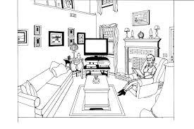 Livingroom Cartoon Cartoon Living Room Perspectives Carameloffers