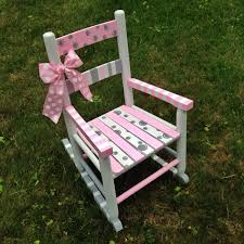 Nursery Room Rocking Chair by Hand Painted Rocking Chair Nursery Decor Children U0027s