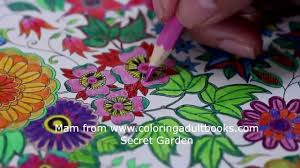 coloring a page from the secret garden coloring book youtube