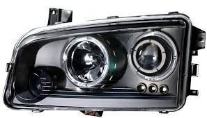 2010 dodge charger custom parts 2006 2010 dodge charger halo projector headlights black clear 02