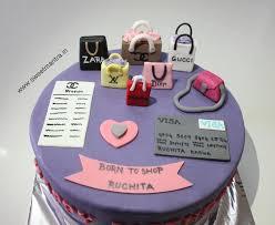 birthday cake shop shopping bags theme shopoholic theme small handcrafted 3d fondant
