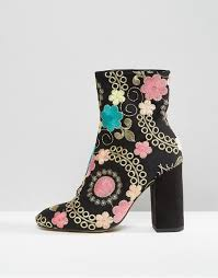 womens boots river island womens boots 5505 river island embroidered floral jacquard heeled boots black pink womens boots outlet store l87w22 1 lrg jpg