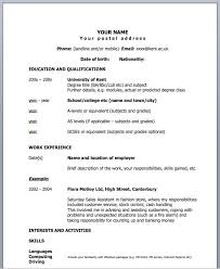 Sample Two Page Resume by 1 Page Resume Example Easy One Page Resume Example Free Resume