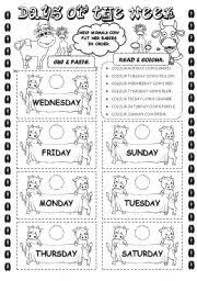 english exercises the days of the week