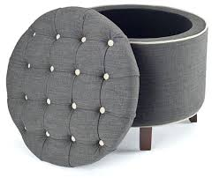 Grey Fabric Storage Ottoman Grey Ottoman Storage Intuitivewellness Co