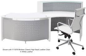 Ada Compliant Reception Desk Curved Wave Glass Top Ada Reception Desk