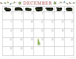 christmas calendar free printable christmas planner