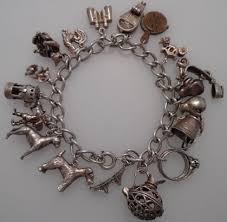 solid silver charm bracelet images Vintage charm bracelet charms images jpg