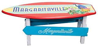 Surfboard Coffee Table Amazon Com Margaritaville Outdoor Surfboard Coffee Table