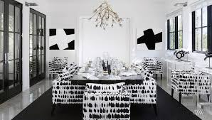 black and white dining room ideas contemporary dining room decor features black and white dining