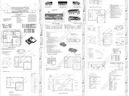 residential blueprints small cabin and bunk house plans and blueprints