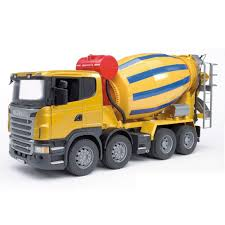 bruder scania r series low loader truck with cat bulldozer