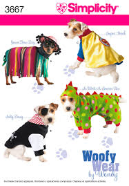 Halloween Costumes Yorkies Dogs Patterns Dog Clothes Simplicity 3667 Pups