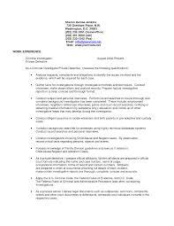 police detective resume private detective resume