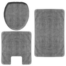 dark gray bath rug set 3 piece at home at home