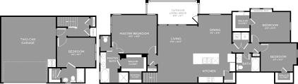 mint floor plans 4 bed 3 bath apartment in elm tx the mansions 3eighty