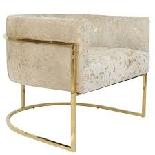 Gold Accent Chair Lisbon Accent Chair In Gold Speckled Cowhide And Brass For Sale At