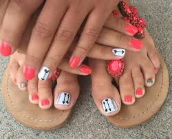 pedicures arrows glitter brightonbeautybar nailed by kristin